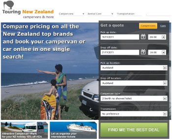 touring new zealand web site thumbnail